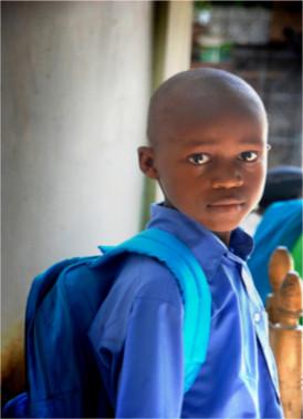 Écolier de l'école Sainte-Croix
